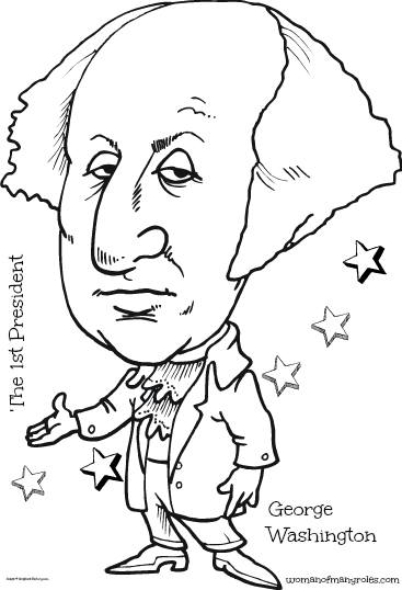 The 1st President George Washington Coloring Page Woman Of Many Roles