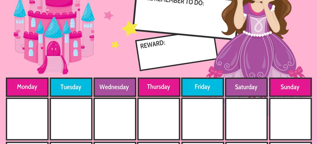 Princess Reward Chart Printable